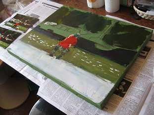 Comment faire un fond de toile acrylique