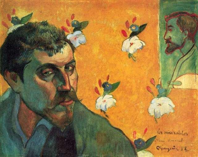 Gauguin Autoportrait (Les Misérables), 1888