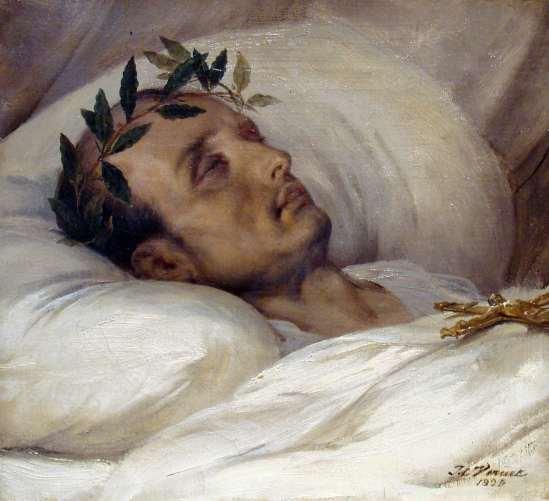 Horace Vernet. Napoléon sur son lit de mort. 1826