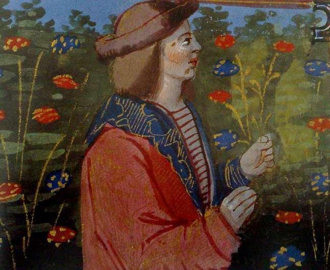 Jeune homme aux fleurs.