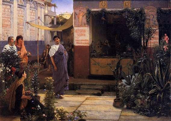 Lawrence Alma Tadema. A Roman Flower Market. 1868. Manchester Art