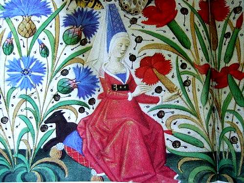 Miniature représentant un jardin médiéval