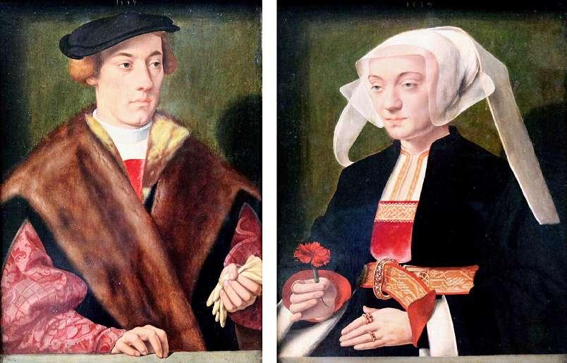 Barthel Bruyn. Portraits. 1534. Gemälde Galerie. Berlin.