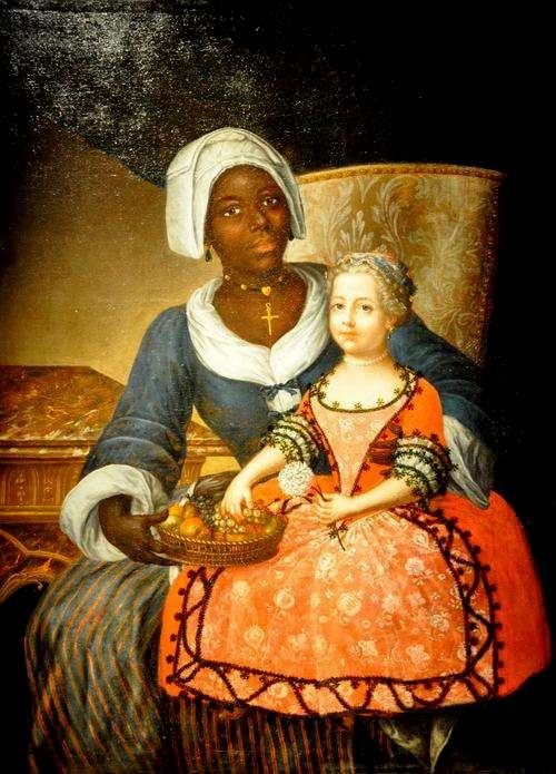 Chanteloub. Portrait de Marie-Jeanne Grellier en compagnie de sa nourrice. Musée d'Aquitaine, Bordeaux