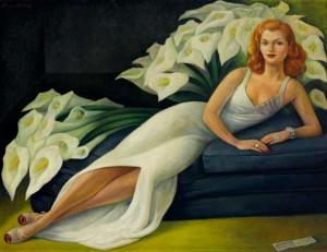 Diego Rivera. Portrait de Natasha Gelman. 1943. Huile sur toile. 120 x 155, 5 cm. The Jacques and Natasha Gelman Collection of Mexican Art