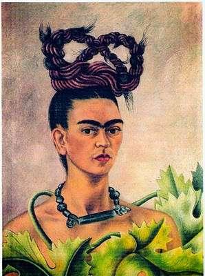 Frida Kahlo. Autoportrait à la natte. 1940. Huile sur toile. 61 x 47 cm. Harry Ransom Centre, Texas