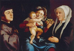 Jan van Scorel. Madone aux jonquilles. ca. 1535. Huile sur toile. 55.5 x 76.2 cm. Musée Thyssen. Madrid