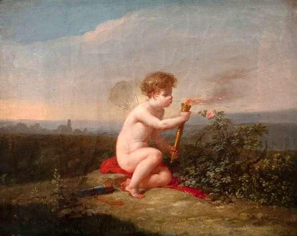 Jean-Baptiste Mallet. L'Amour tenant une torche. ca. 1800- 1810. Musée des beaux-arts de Quimper