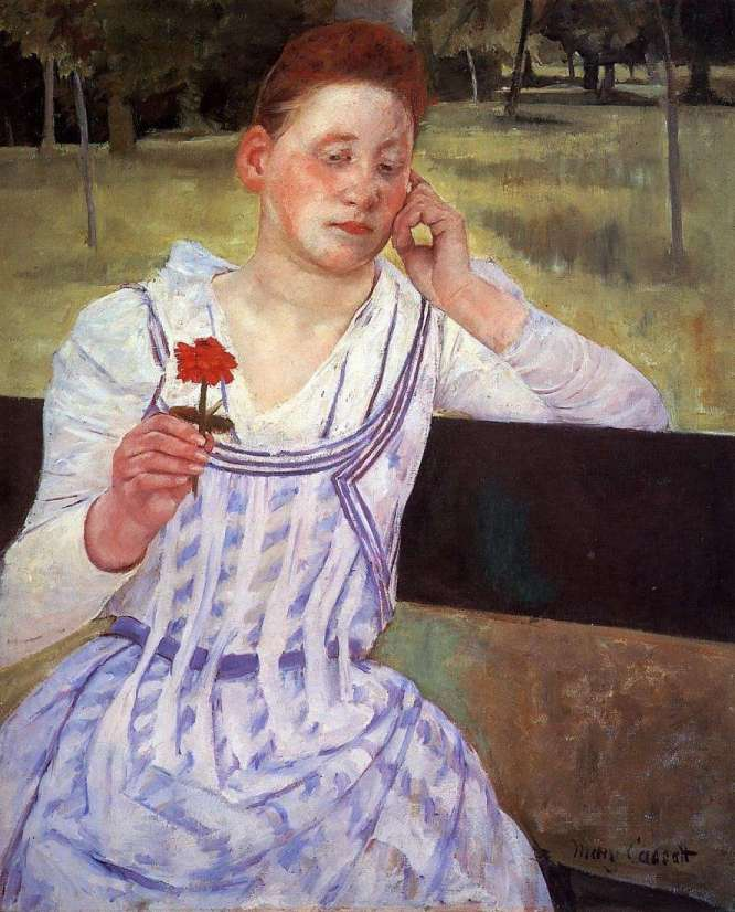 Mary Cassatt Woman with a Red Zinnia, 1891 73.6 x 60.3 cm National Gallery of Art, Washington