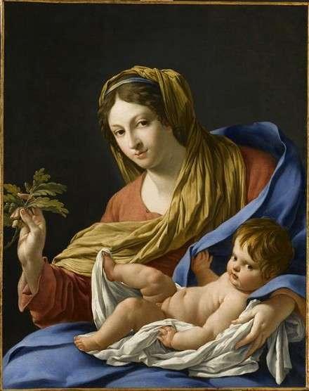 Simon Vouet. Madone Hesselin. (non-datée). Huile sur toile. 97 × 77 cm. Musée du Louvre. Paris.