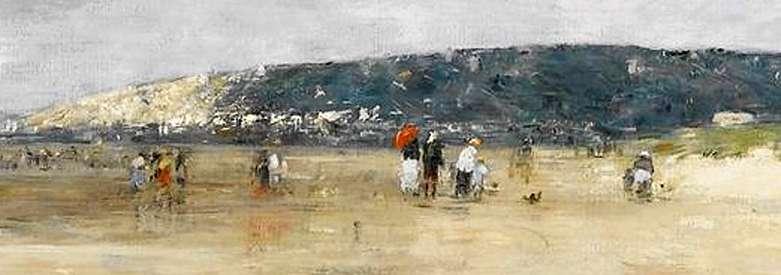Eugène Détail : Boudin – Bénerville La plage 1890 Service presse / musée Marmottan Monet