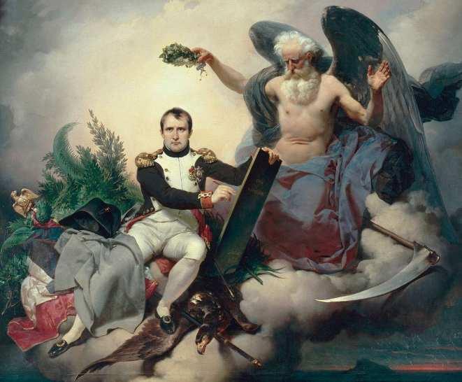 Jean-Baptiste Mauzaisse. Napoléon créateur des lois. 1833. Huile sur toile. 131 x 160 cm. Musée national du Château de Malmaison (Rueil-Malmaison)