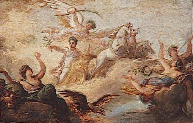 Jean Simon BERTHELEMY. Apothéose de Napoléon Ier. Esquisse. 1er quart 19e siècle. Paris ; musée du Louvre département des Peintures