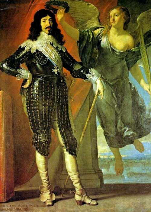 Philippe de Champaigne. Louis XIII couronné par la Victoire. Circa 1635. 228,5 x 175 cm. Musée du Louvre. Département des peintures. Paris