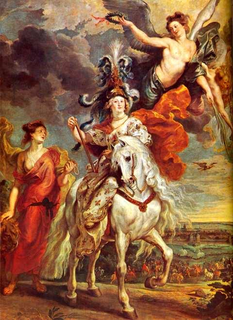 Rubens. La Prise de Juliers, le 1er septembre 1610, dit autrefois Le Voyage de Marie de Médicis au Pont-de-Cé. Huile sur toile. 1622- 25. 394 x 295 cm. Musée du Louvre. Paris