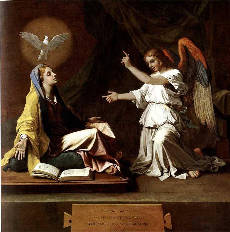L'Annonciation. 1657. Huile sur toile. H. 104,3; l. 103,1 cm. Londres, The National Gallery.
