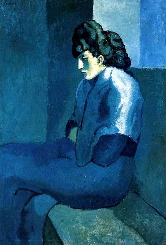 Femme assise au fichu la m lancolie picasso 1902 - Les simpson nue ...