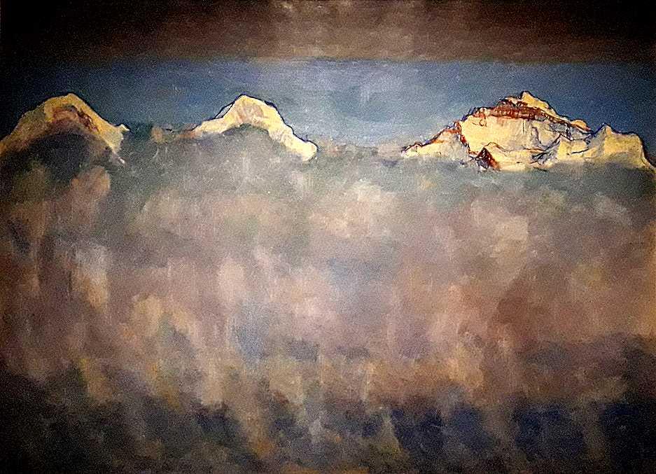 Ferdinand Hodler L'Eiger, le Mönch et la Jungfrau au-dessus de la mer de brouillard (1908)