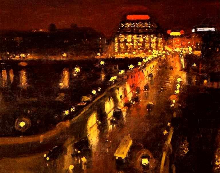 Albert Marquet (1875-1947) Le Pont Neuf la Nuit - 1935 Huile sur toile, 81x100cm Centre Pompidou, Paris, France