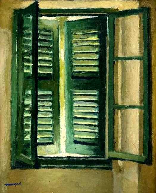 Albert Marquet (1875-1947), Persienne verte 1944-1946 Huile sur toile 27 x 22 cm Collection particulière Photo Jean-Louis Losi © Adagp, Paris 2016.