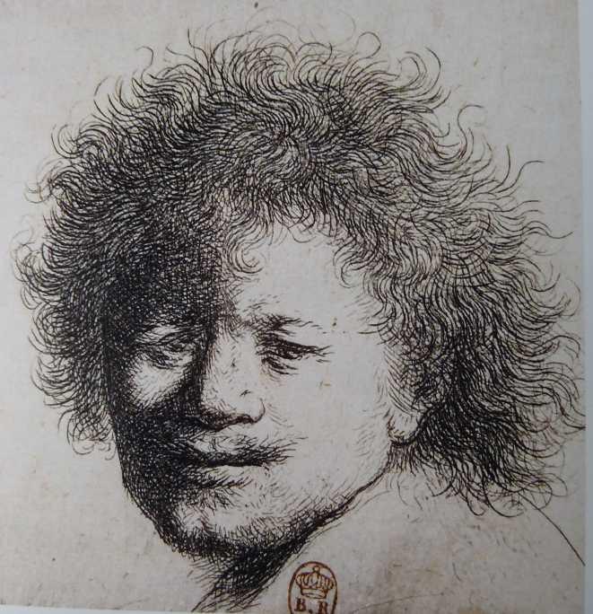 Rembrandt aux cheveux hérissés Vers 1631, eau-forte