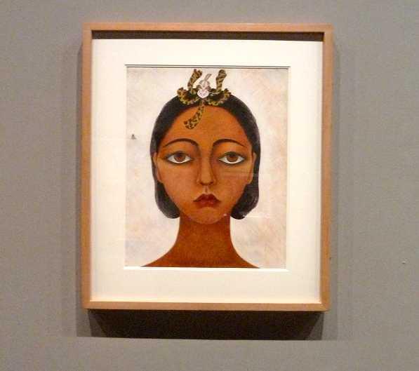 Rosa Rolanda (1898-1970) Autoportrait vers 1945 Gouache sur papier Collection Andrés Blaisten