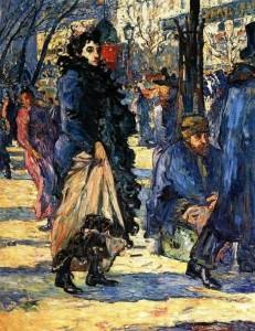 Valtat - Sur le boulevard 1892
